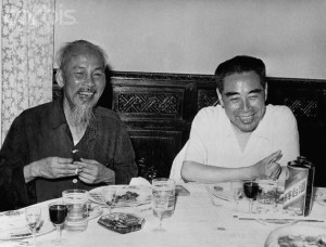 Ho Chi Minh Dines with Chou En-lai