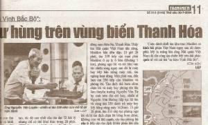 báo Thanh Niên đăng tin Kỷ Niệm 40 năm Bắc Việt tấn công tàu Maddox